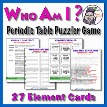 Element Identification Puzzler - Periodic Table Elements