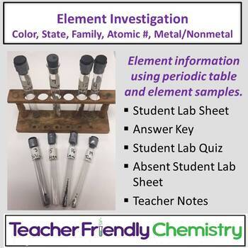 Chemistry Activity: Element Investigation