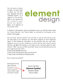 Element Periodic Table Chemistry Assignment