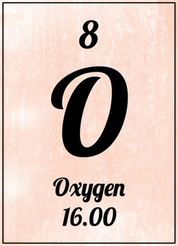How Do You Spell Oxygen >> Element Poster Oxygen Pink By Ms Velascos Laboratory Tpt