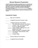 Element Presentation Project