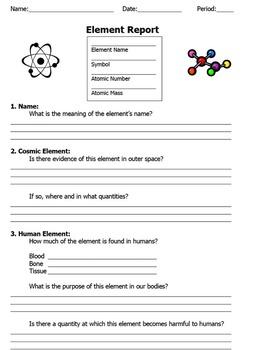 Element Report