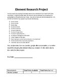 Element Research Activity