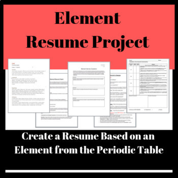 Element Resume Project: Create a Resume Based on an Element from Periodic Table