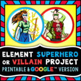 Element Superhero or Villain Project - Periodic Table Research Project