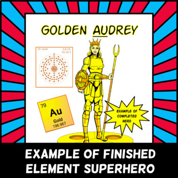 element superhero or villain project periodic table research project