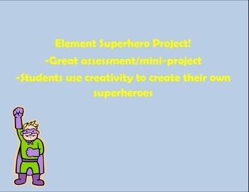 Element Superhero Template and Rubric