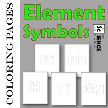 Element Symbols Coloring Pages