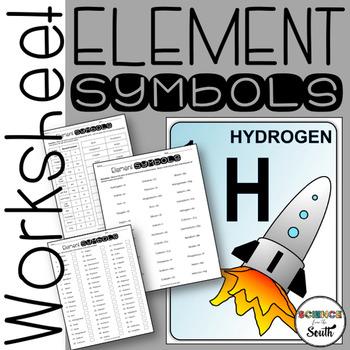 Element Symbols Worksheet To Use For Practice Or Assessment Tpt