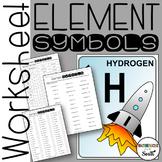 Element Symbols Worksheet to Use for Practice or Assessment
