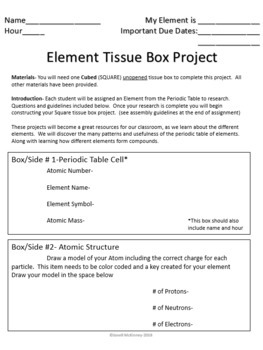Element Tissue Box Project