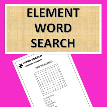 Element Word Search