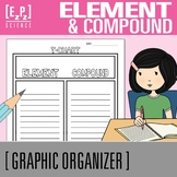 Element and Compound T-Chart Graphic Organizer