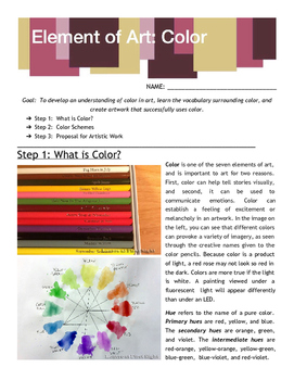 Element of Art: Color