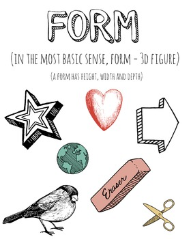 Elements of Art- FORM poster!