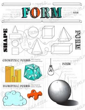 Element of Art, Form: Middle School Visual Art, High School Visual Art Activity