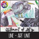 Element of Art: LINE, Art Lessons, Unit