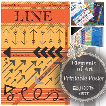 Line, Element of Art Printable Poster for a Visual Art Classroom
