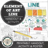 Element of Art Line Worksheet: Visual Art Classroom Activity