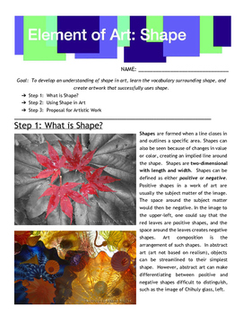 Element of Art: Shape