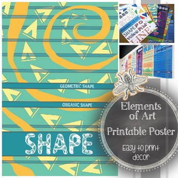 Element of Art (Shape) Printable Art Classroom Poster