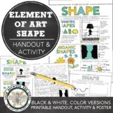 Shape Elements of Art Printable Worksheet, Middle School Art or High School Art