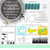 Element of Art Space Printable Worksheet: Daily Visual Art Class Activity