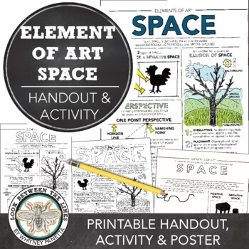 Element of Art (Space) Worksheet: Explanation and Hands on Art Activity