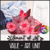 Element of Art: VALUE, Art Lessons, Unit