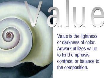 element of art value powerpoint by jewels teachers pay teachers