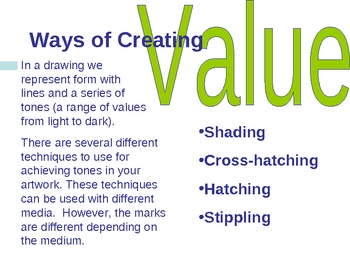 Element of Art - Value PowerPoint