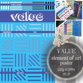 Element of Art, Value, Printable Poster: Art Classroom Decoration