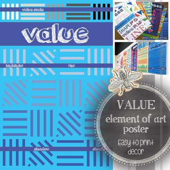 Element of Art, Value, Printable Poster: Art Classroom Decoration