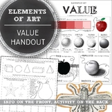 Element of Art Value Worksheet: Elementary, Middle, and Hi
