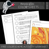 Color Scheme Worksheet - Color Theory, Analogous, Compleme