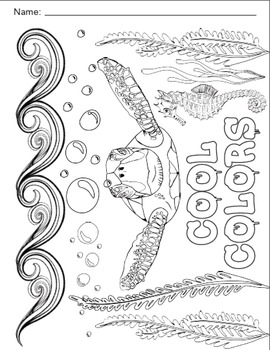Element of Color Worksheets and Coloring Sheets