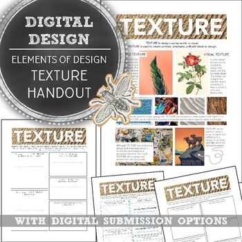 Element Of Design Texture Handout For A Media Art Or Digital Arts Class,Aashto Roadside Design Guide Clear Zone