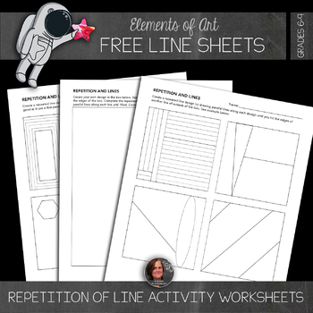 Element of Line - Free Repeated Line Worksheets