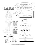 Element of Line Poster / Handout for Elementary School Art Class FREE!