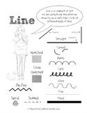 Element of Line Poster / Handout for Elementary School Art