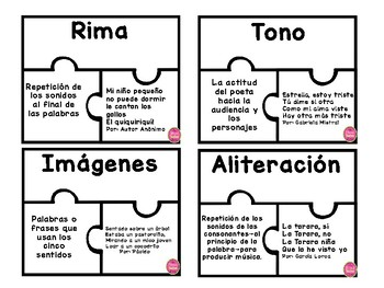 Element of Poetry Puzzles in Spanish