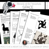 Elements of Art Worksheets - Space & Composition & Mini Ar