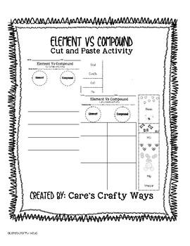 Element or Compound? Cut & Paste Worksheet