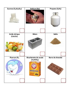 Element or Compound French Immersion Worksheet
