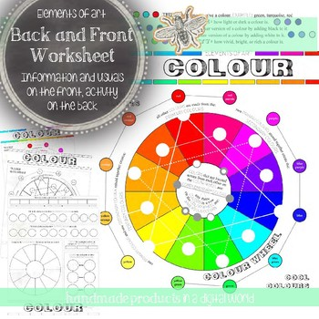 Elements of Art, Colour, Worksheet, Activity for All Visual Art Classes & Levels