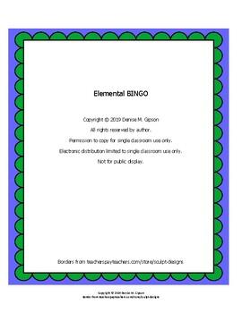Elemental BINGO