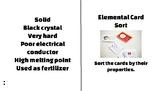 Elemental Card Sort-Metals, Nonmetals & Metalloids