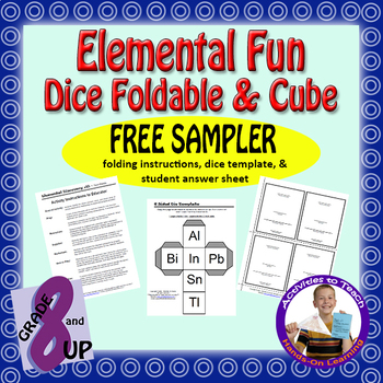 Elemental Fun - Dice Foldable & Cube - FREE Sampler