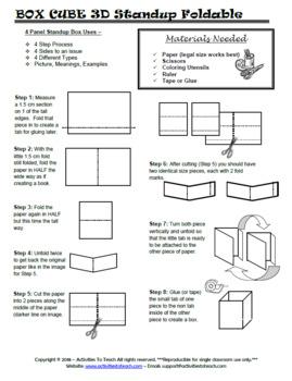 Elemental Fun - Dice Foldable & Cube - FREE Sampler