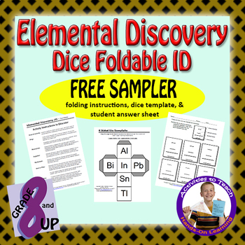 Elemental Fun Dice Foldable ID Activity - FREE Sampler